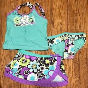 Zero posur swimwear girls size 5